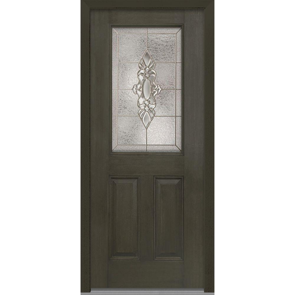 36 in. x 80 in. Heirloom Master Left-Hand Inswing 1/2  sc 1 st  The Home Depot & Front Doors - Exterior Doors - The Home Depot