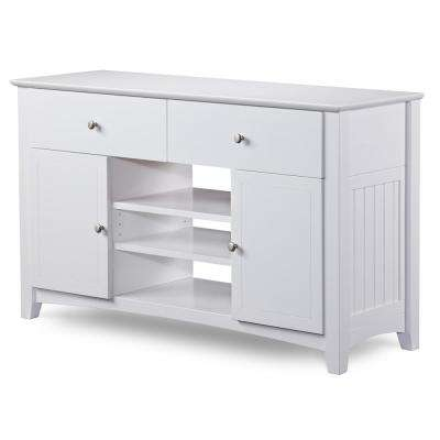 Coastal White TV Stands Living Room Furniture The Home Depot