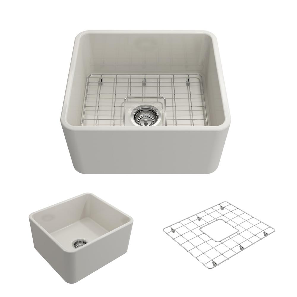 Classico Farmhouse Apron Front Fireclay 20 in. Single Bowl Kitchen Sink