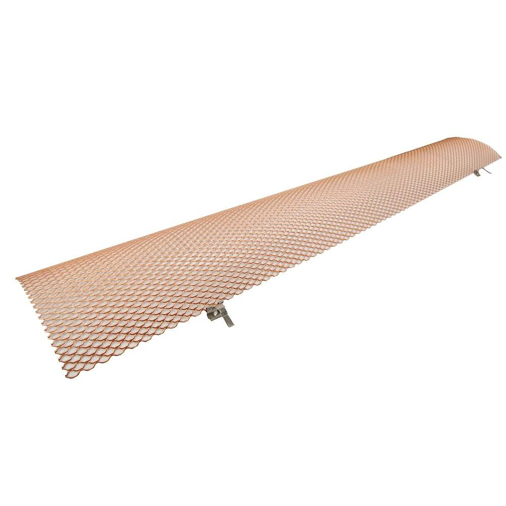 6 in. Half-Round 3 ft. Copper Hinged Gutter Guard