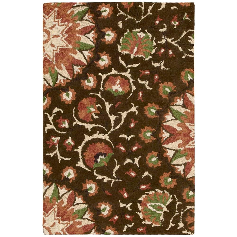 Nourison Suzani Brown 2 ft. 6 in. x 4 ft. Accent Rug