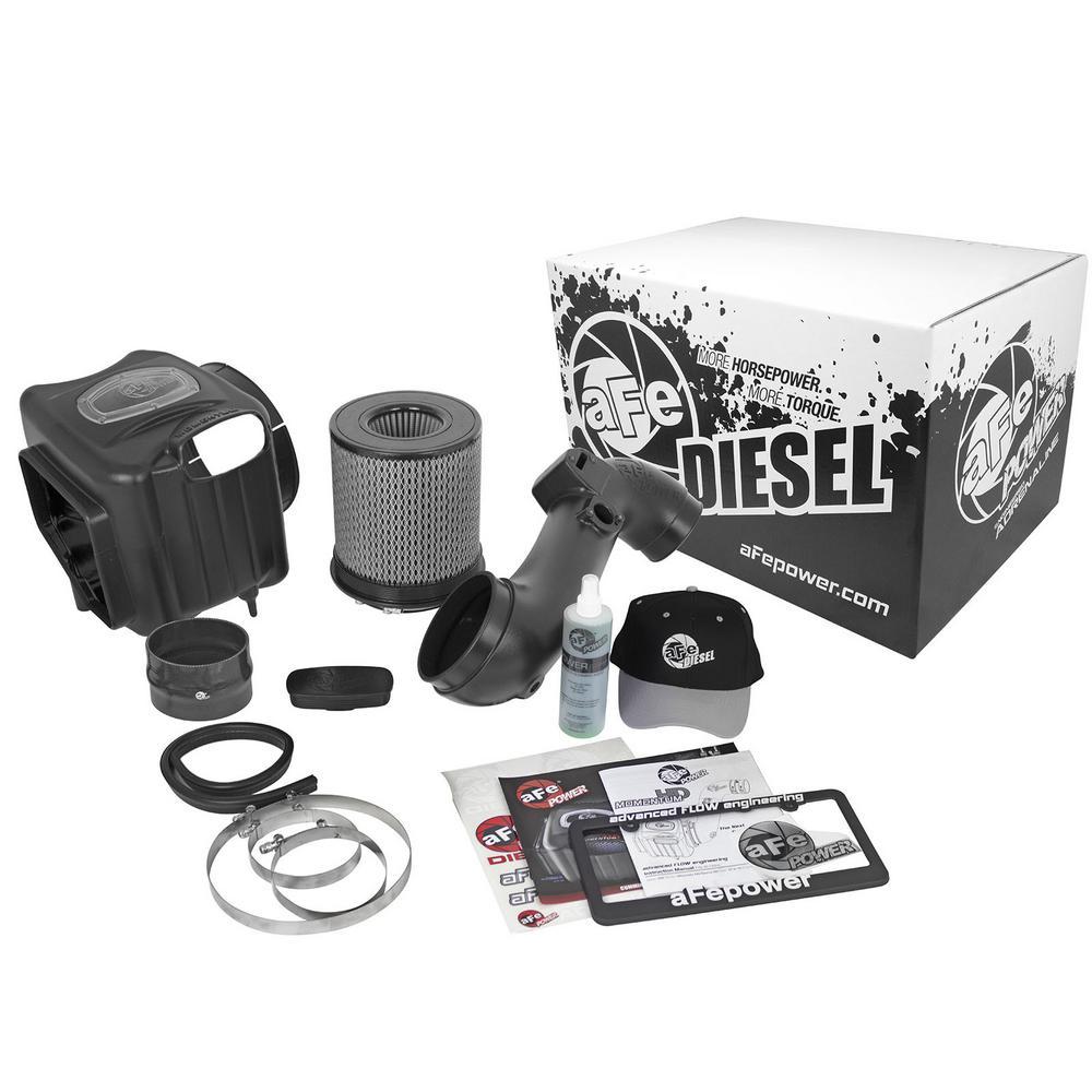 Diesel Elite Momentum HD Pro DRY S Cold Air Intake System for GM Diesel Trucks 11-16 V8-6.6L (td) LML