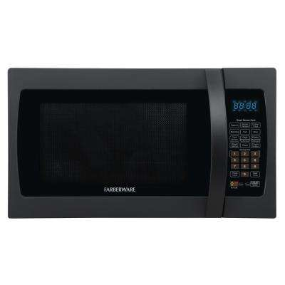 Professional 1.3 cu. ft. Countertop Microwave in Matte Black with Smart Sensor Cooking