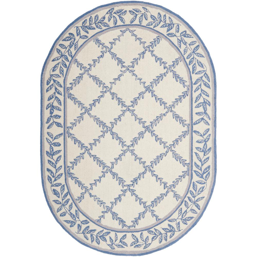 Chelsea Ivory/Blue 7 ft. 6 in. x 9 ft. 6 in.