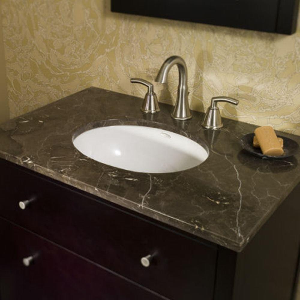 American Standard Ovalyn Undermount Bathroom Sink In White 0495 221 020 The Home Depot