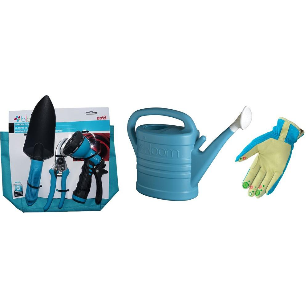 Bond manufacturing bloom green thumb kit in blue 6 piece for Garden tools manufacturers