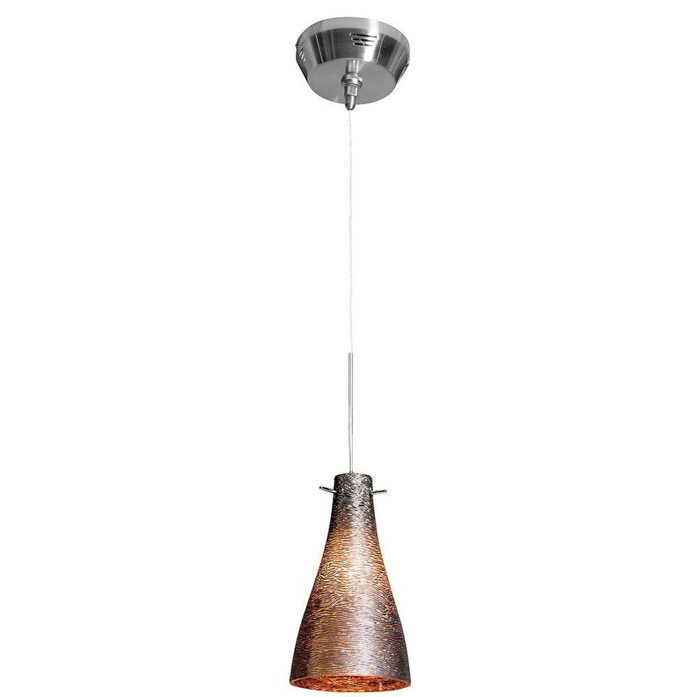 Illumine 1-Light Bronze Metal Glass Mini Pendant-DISCONTINUED