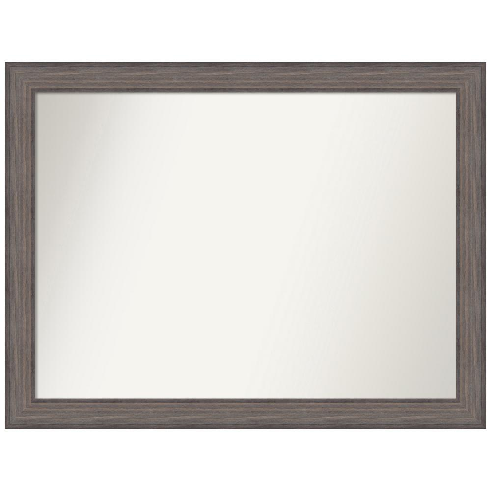 Amanti Art Choose Your Custom Size 46.25 in. x 35.25 in. Country Barnwood Decorative Wall Mirror was $579.95 now $289.97 (50.0% off)