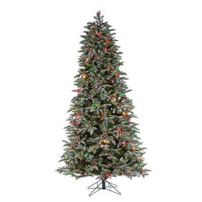 6.5 ft. H Flocked Mountain Pine with Power Pole
