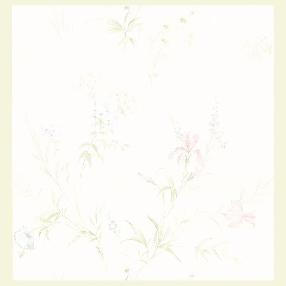 Brewster 56 sq. ft. Lilac Wallpaper