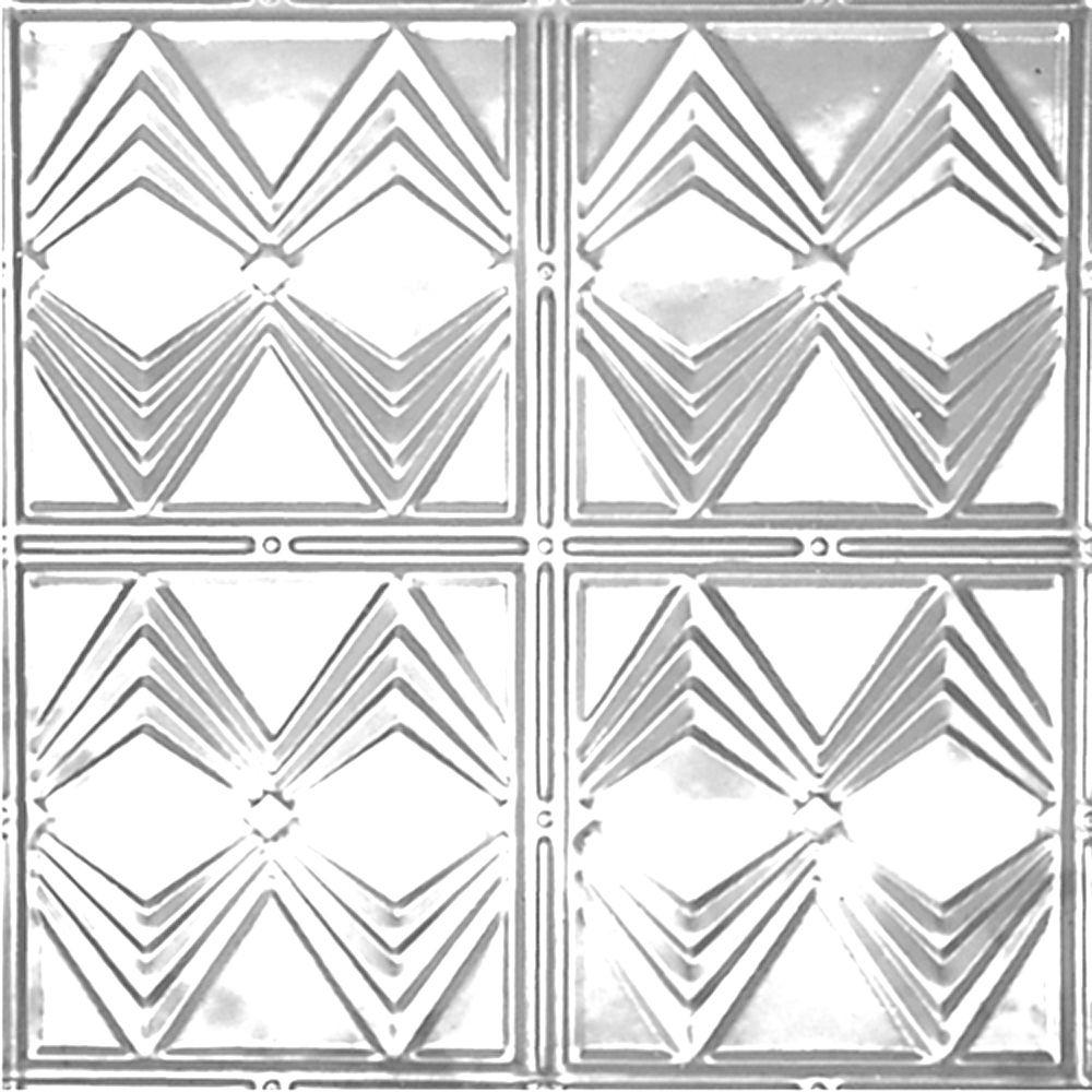 2 ft. x 2 ft. Lay-in Suspended Grid Tin Ceiling Tile