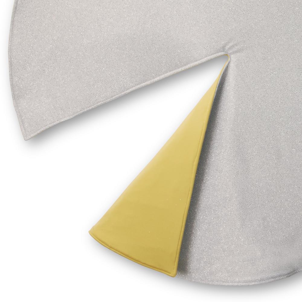 54 in. Silver/Gold Designer Tree Skirt