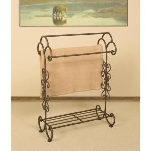 Oil-Rubbed Bronze Scrollwork Quilt Rack from Racks