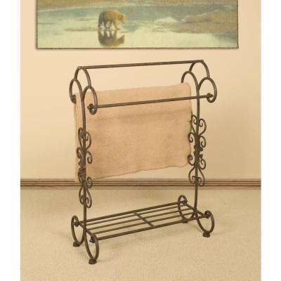 Oil-Rubbed Bronze Scrollwork Quilt Rack