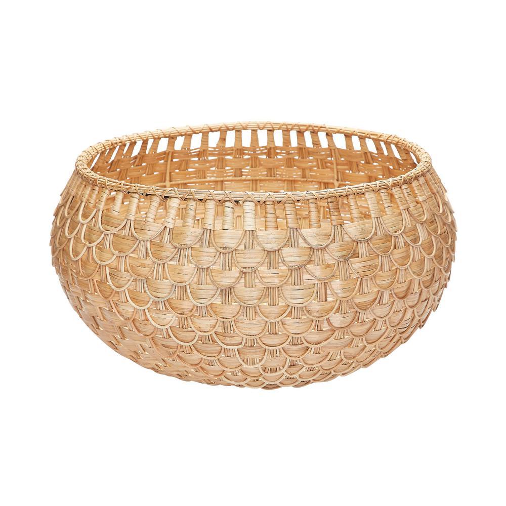 Large Natural Fish Scale Basket