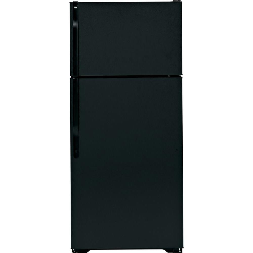 Hotpoint 28 in. W 16.6 cu. ft. Built-in Top Freezer Refrigerator in Black
