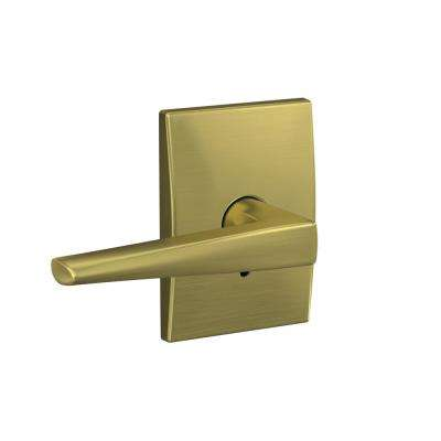 Custom Eller Satin Brass Century Trim Combined Interior Door Lever