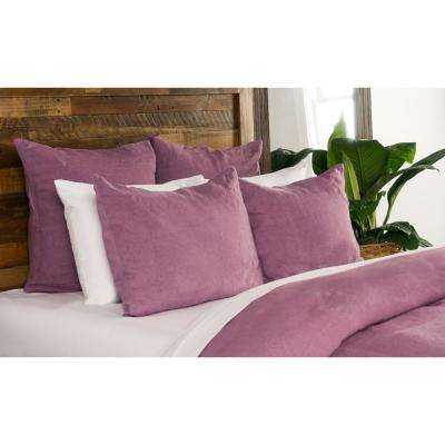 Heirloom Linen Orchid 26 in. x 26 in. Euro Sham