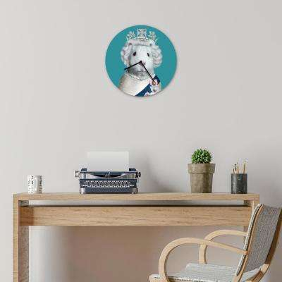"16 in. Pets Rock ""HRH"" Glass Wall Clock"