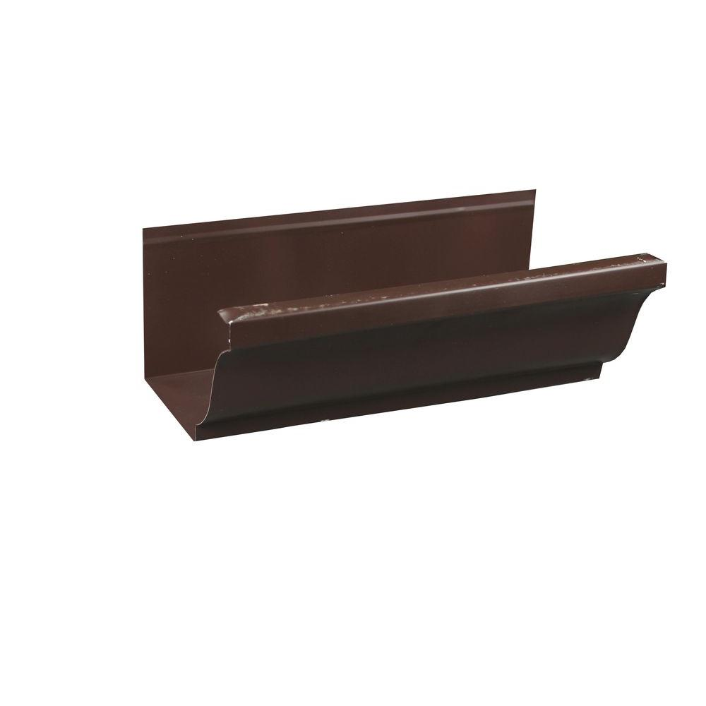 Spectra Metals 6 In X 8 Ft K Style Royal Brown Aluminum