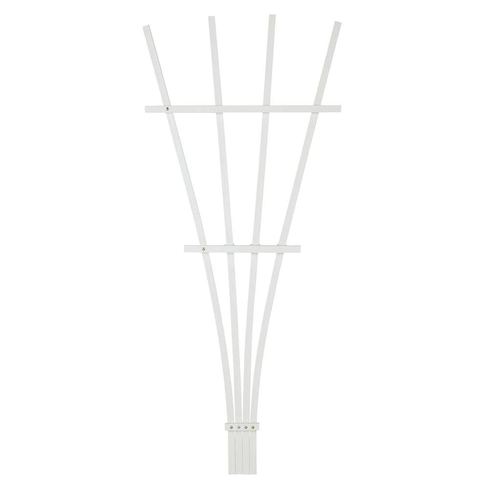 6 ft. White Composite Foldable Fan Trellis
