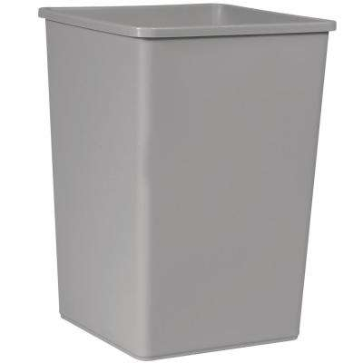 Untouchable 35 Gal. Gray Square Open Top Trash Can