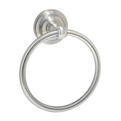 VIOLA Wall Mounted Towel Ring in Satin Nickel