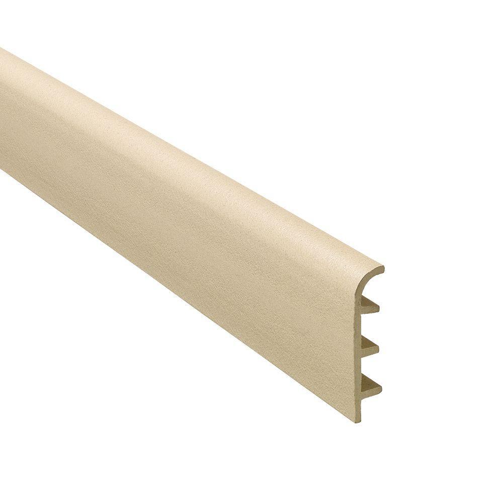 Novorodapie Stone 2-3/8 in. x 98-1/2 in. Composite Maxi Baseboard Trim