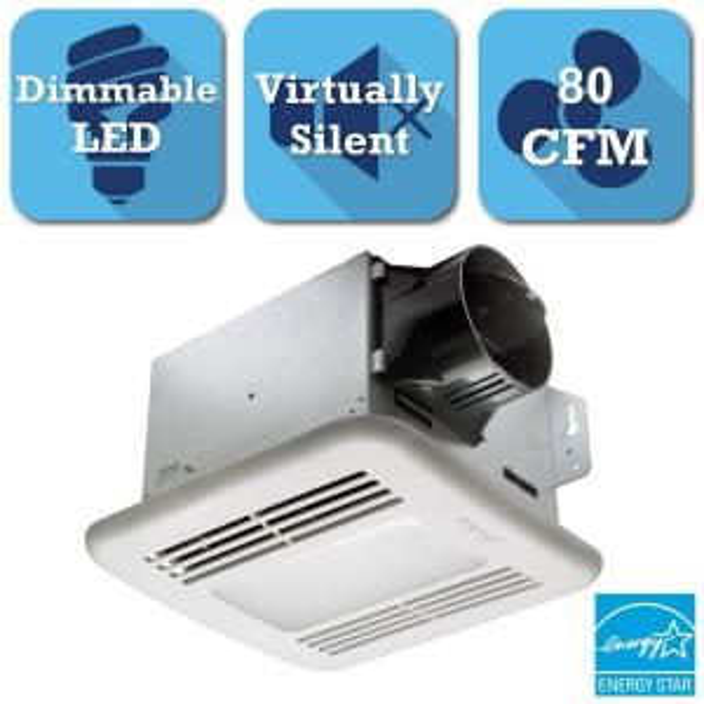 Delta Breez GreenBuilder Series 80 CFM Ceiling Exhaust Bath Fan with LED Light by Delta Breez