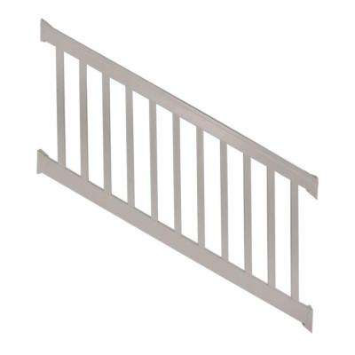 Vanderbilt 3 ft. H x 8 ft. W Tan Vinyl Stair Railing Kit