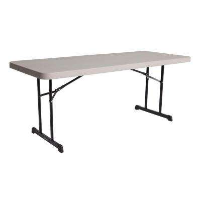 72 in. Putty Plastic Folding Banquet Table (Set of 4)