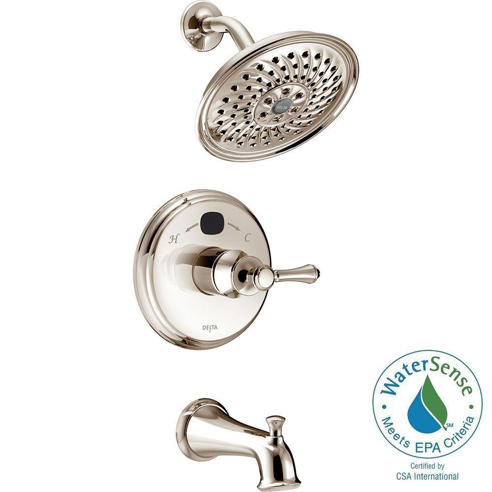 Delta Temp2O Traditional 1-Handle Tub and Shower Faucet Trim Kit in ...