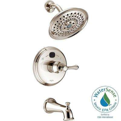 Temp2O Traditional 1-Handle Tub and Shower Faucet Trim Kit in Polished Nickel (Valve Not Included)
