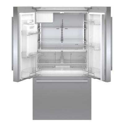 500 Series 36 in. 21.6 cu. ft. French Door Refrigerator in Stainless Steel with Fastest Ice Maker, Counter Depth