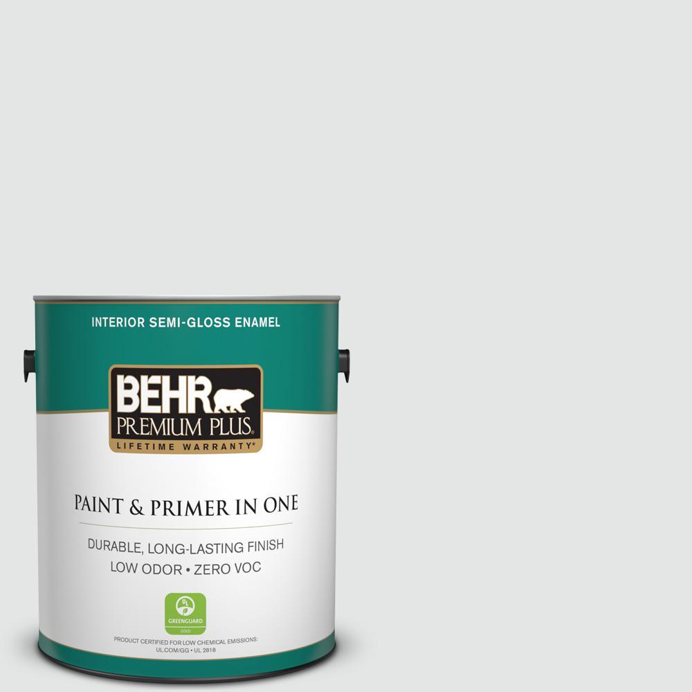 1 gal. #PPU26-13 Silent White Semi-Gloss Enamel Zero VOC Interior Paint and Primer in One