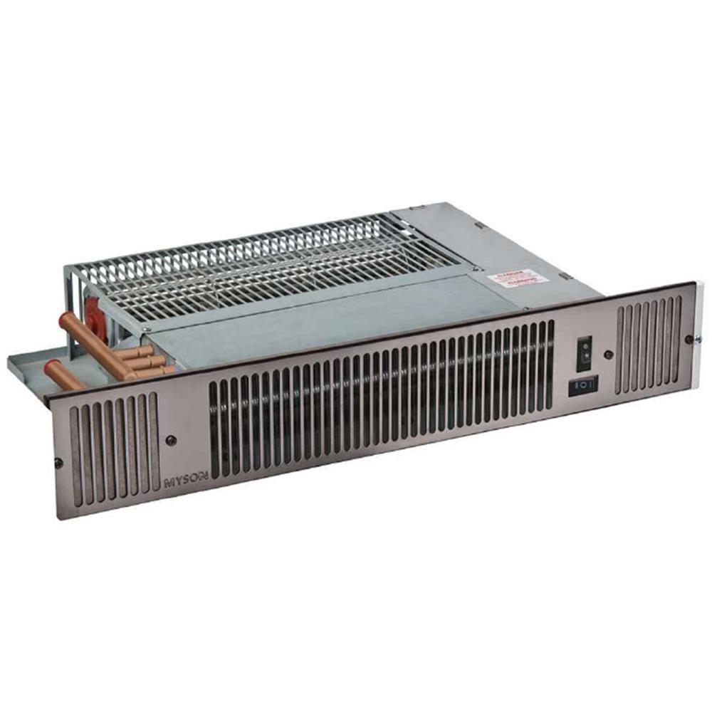 MYSON Whispa III 10,340 BTU Hydronic Kick Space Heater (Not Electric, Black