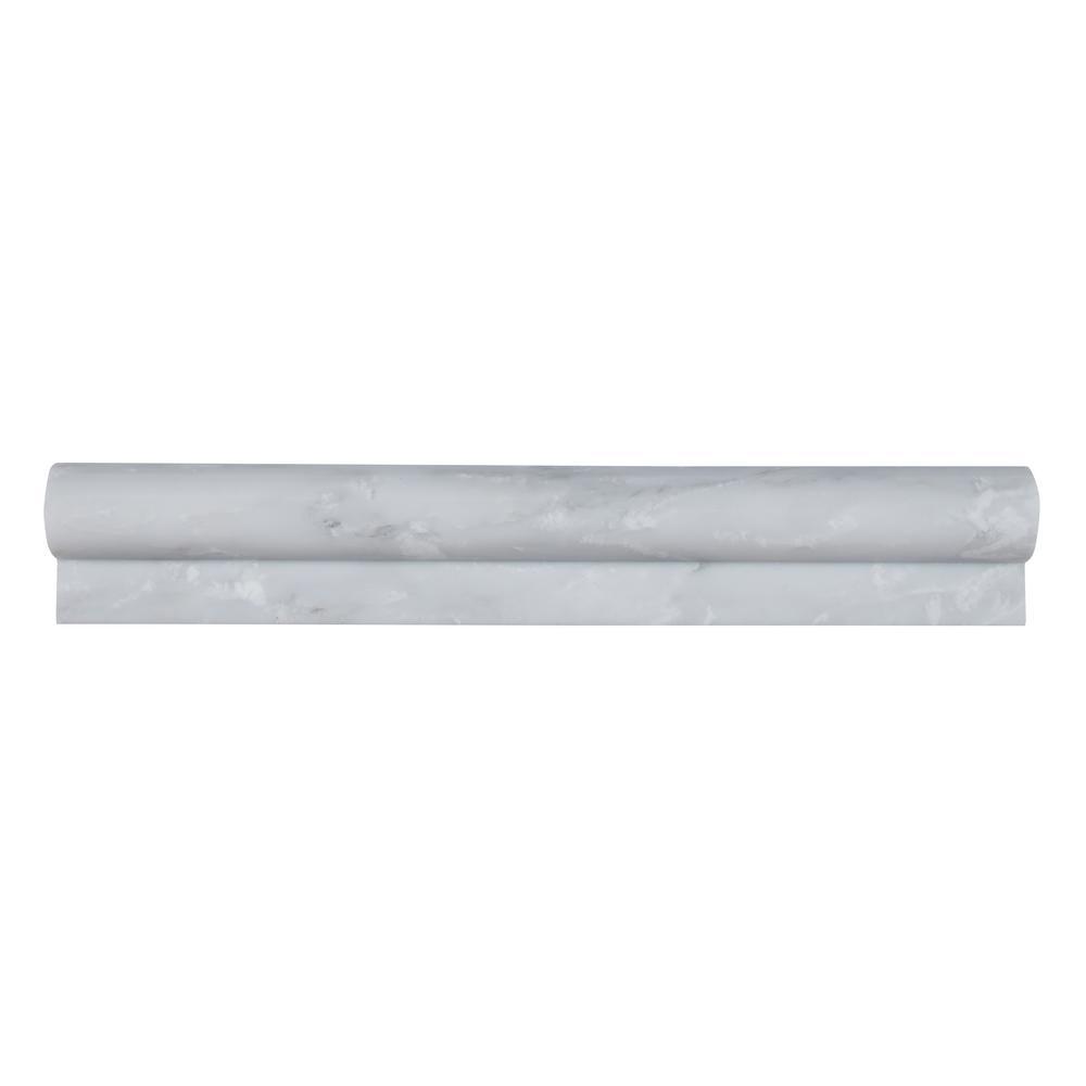 MSI Greecian White 2 In. X 12 In. Polished Marble Rail