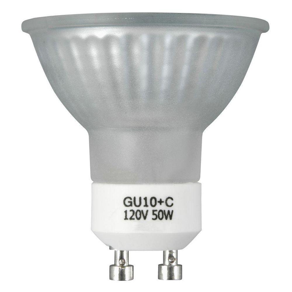 50-Watt Halogen MR16 GU10 Frosted Medium Flood Light Bulb