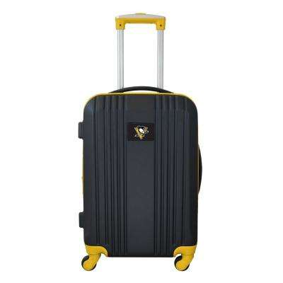 NHL Pittsburgh Penguins 21 in. Yellow Hardcase 2-Tone Luggage Carry-On Spinner Suitcase