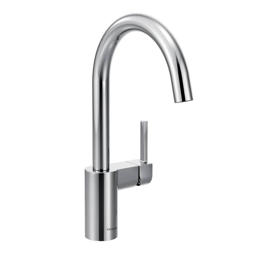 moen align single handle standard kitchen faucet in chrome 7365 rh homedepot com moen single lever kitchen faucet parts moen single lever kitchen faucet cartridge