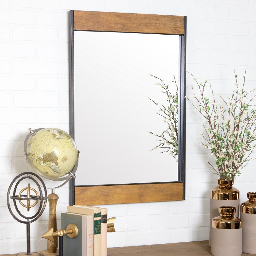 Aspire Home Accents Cliveden Wood And Metal Wall Mirror