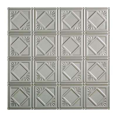 Traditional 4 - 2 ft. x 2 ft. Lay-in Ceiling Tile in Argent Silver
