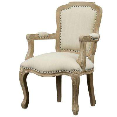 aloisia beige fabric arm chair