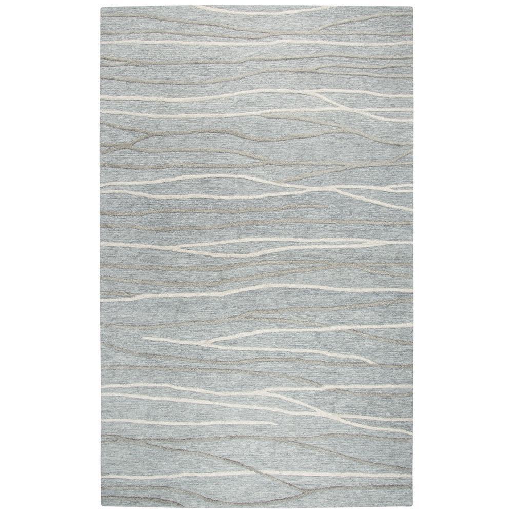Idyllic Gray/Ivory 5 ft. x 8 ft. Rectangle Area Rug