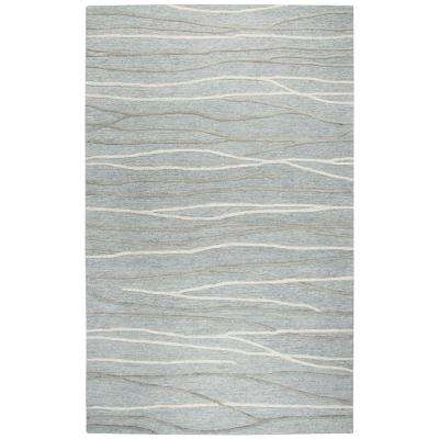 Idyllic Gray and Ivory Abstract 9 ft. x 12 ft. Area Rug
