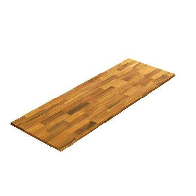 6 ft. L x 2 ft. 1.5 in. D x 1 in. T Butcher Block Countertop in Golden Teak Stained Acacia