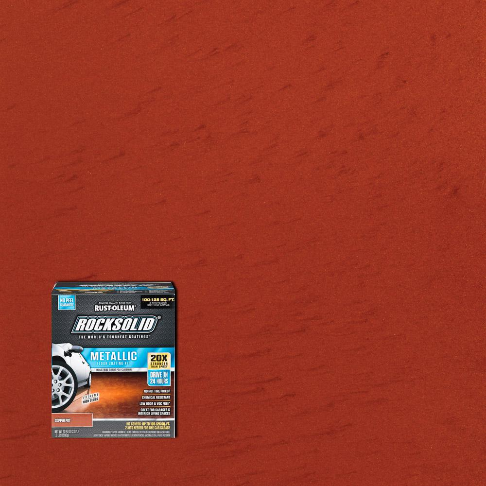 70 oz. Metallic Copper Pot Garage Floor Kit (2-Pack)