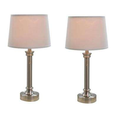 23.5 in. Bedside Table Lamp Twin Pack