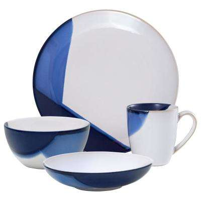 16-Piece Caden Blue Dinnerware Set