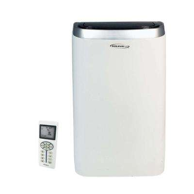 14,000 BTU Portable Air Conditioner with Heat, Dehumidifier and Remote in White